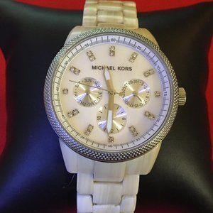 Michael Kors Women's Ritz Alabaster Watch